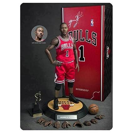 1e8edbd2e5d3b Amazon.com: Derrick Rose Chicago Bulls 1/6th Scale 12