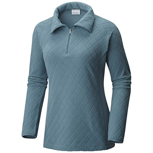Columbia Glacial Print III 1/2-Zip Fleece Pullover - Women's Cloudburst Diamond Quilt, S (1/2 Zip Fleece Pullover)