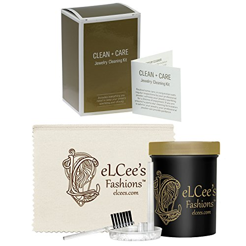 Non-costume Jewelry (Costume Jewelry Clean + Care Kit with Ammonia-Free Gentle Formula, Basket, Brush and Polishing Cloth)