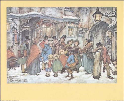 The Christmas Carollers Paper Tole 3D Kit 8x10