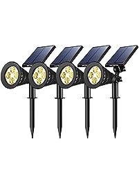 victsing 4 pack solar spotlights 2in1 waterproof outdoor adjustable 4 led