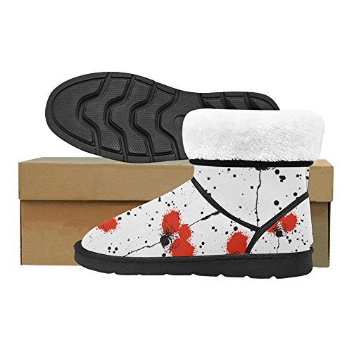 12 Size 5 InterestPrint Graphic Animals Print Pattern 5 Womens Boots Flowers Classic On Color9 Snow Colorful Ladies 7Z6B7wq
