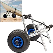 Kayak Cart - Universal Dolly for Kayaks and Canoes - Easy to Roll and Durable Carrier for All Outdoor Travel N