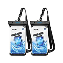 Mpow Waterproof Case, Full Transparency IPX8 Waterproof Dry Bag Compatible for iPhone Xs/XS Max/XR/X/8/8 Plus/7/7 Plus, Samsung Galaxy S10/S9/S8 Google Pixel and All Devices Up to 6.5