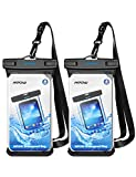 Mpow Waterproof Phone Pouch, Full Transparency IPX8 Waterproof Case with Adjustable Lanyard Universal Dry Bag Compatible for iPhone Xs Max/XS/XR/X/8, Galaxy S9,Note 8, Google up to 6.5' 2-Pack