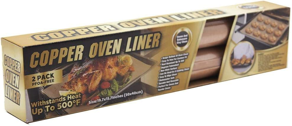 Tekno- 2 Pack Copper Oven Liners