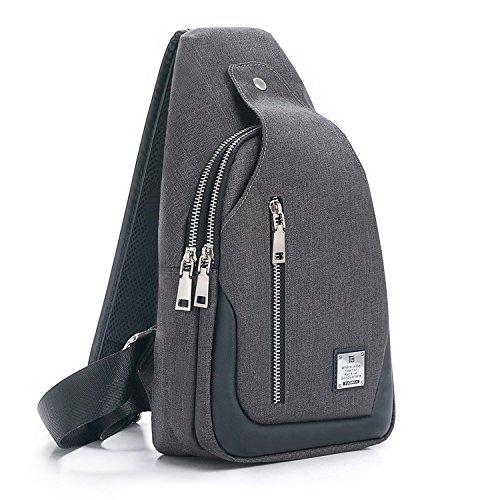 Sling Bag Chest Shoulder Backpack Crossbody Bags for Men Women Travel...