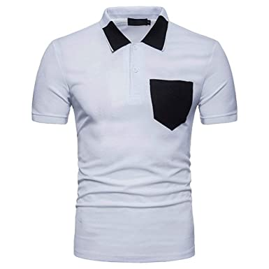 Polo Shirt Mens T Shirt Top Unico Summer Short Sleeve Polo Shirt ...