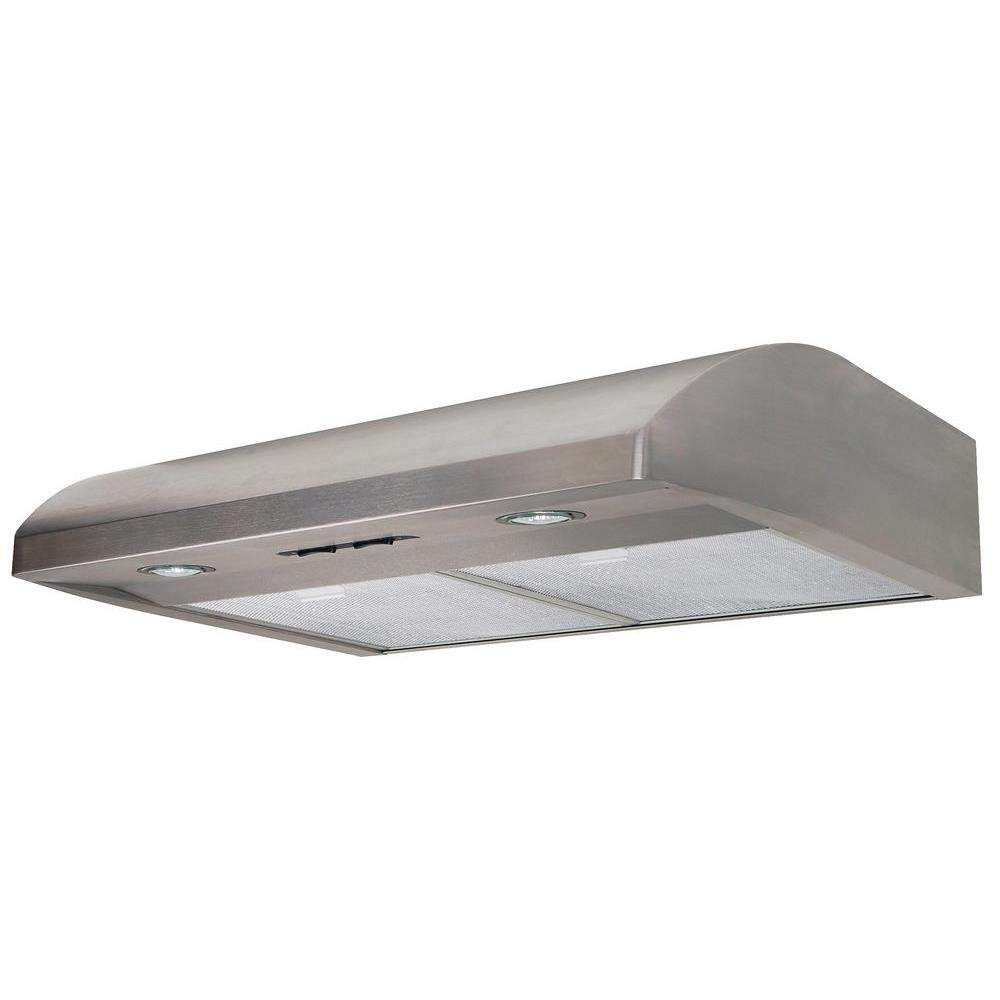 Air King EB30SS 30-Inch Essence 2-Speed Stainless Steel Convertible Range Hood, 250-CFM at 5.0-Sones