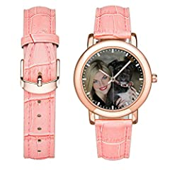 Customized personalized watches with photo name or blessing words, it can be a great gift for mom, girlfriend, wife or youth girls on birthday, wedding day, valentine's day, mother's day ...