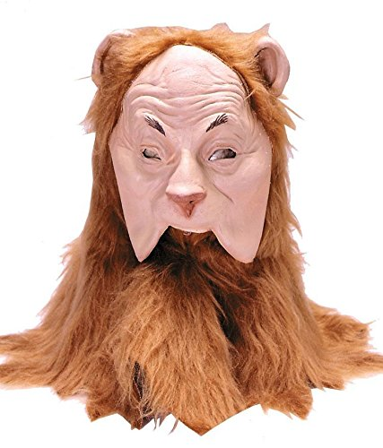 Rubie's Wizard Of Oz Cowardly Lion Mask, Orange/Brown, Adult - Man Wizard Of Oz Masks