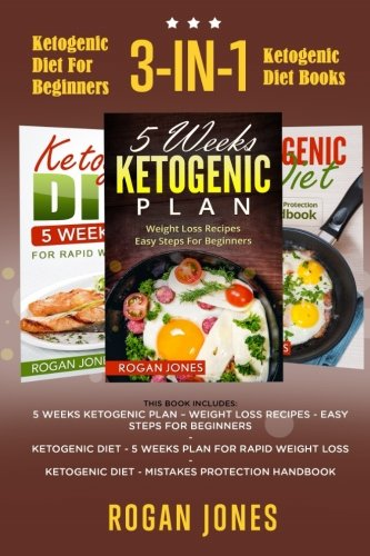 Read Online Ketogenic Diet For Beginners: 3-in-1 Ketogenic Diet Books (Ketogenic, Ketogenic Plan, Ketogenic Diet, Weight Loss, Low Fat) PDF