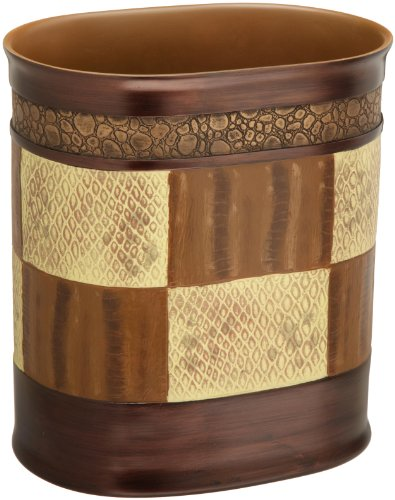 New decorative zambia waste basket trash can 738980713114 for Waste baskets for bathroom