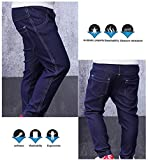 Baby Jeans Pants Denim Style Leggings Stretchy Soft Trousers Elastic Waist Casual Pants Cotton Pants for Baby Girls Boys 6-12 Months Dark Blue