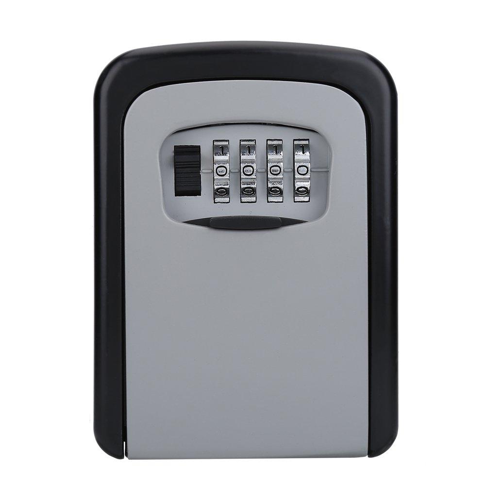 Vbestlife Key Storage Wall Mount Lock Box,4 Digit Combination Password Key Safety Code Keys Holder Storage Lock Box Case-Business Commercial Key Solid Lockbox for Indoor Outdoor by Vbestlife (Image #8)