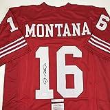 Autographed/Signed Joe Montana San Francisco Red