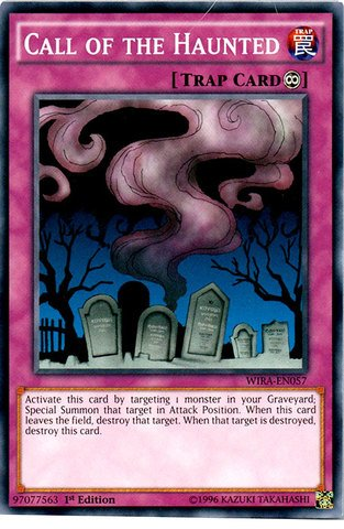 Haunted Deck - Yu-Gi-Oh! - Call of the Haunted - WIRA-EN057 - Common - 1st Edition (WIRA-EN057) - Wing Raiders - 1st Edition - Common