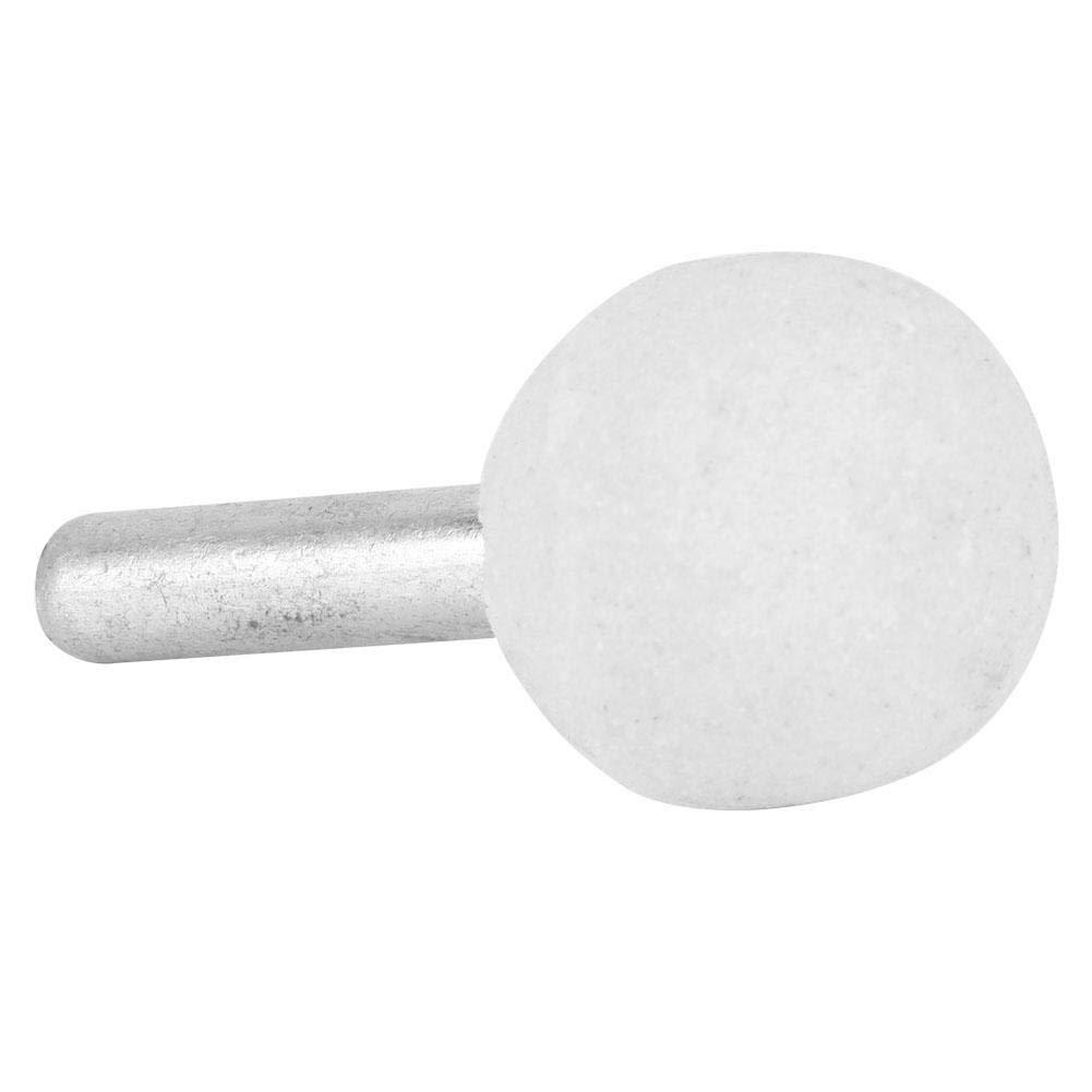 6 * 25mm 10 St/ücke Kugelf/örmige Keramikscheibe Schleifkopf Polieren Bits Keramikschleifen Polierkopf f/ür Drehwerkzeug