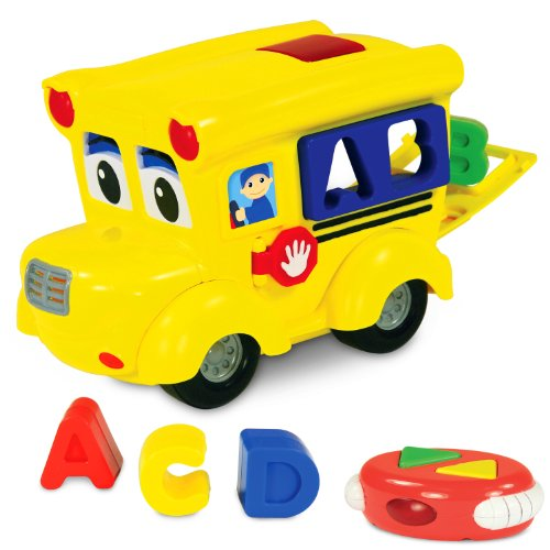 The Learning Journey Remote Control Shape Sorter, Letterland School Bus - Shape Sorting Bus