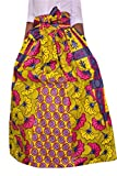 Oberora-Women Elastic Waist Africa Print Dashiki Belted Swing Maxi Skirts 1 3XL