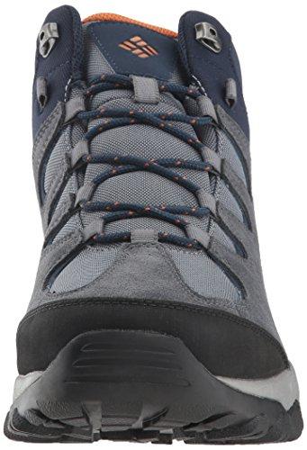 Columbia Men's Buxton Peak MID Waterproof Hiking Boot, Grey ash, Bright Copper, 9 Regular US