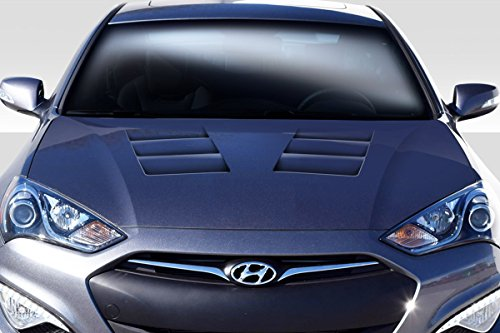 Duraflex Replacement for 2013-2016 Hyundai Genesis Coupe 2DR TS-1 Hood - 1 Piece