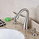 Sukmw Solid Brass Bathroom Basin Sink Faucet 2 Swan Faucet Vanity Sink Mixer Tap New