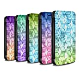 STUFF4 PU Leather Wallet Flip Case/Cover for Apple iPhone 8 Plus / Multipack Design / Colour Cube Collection