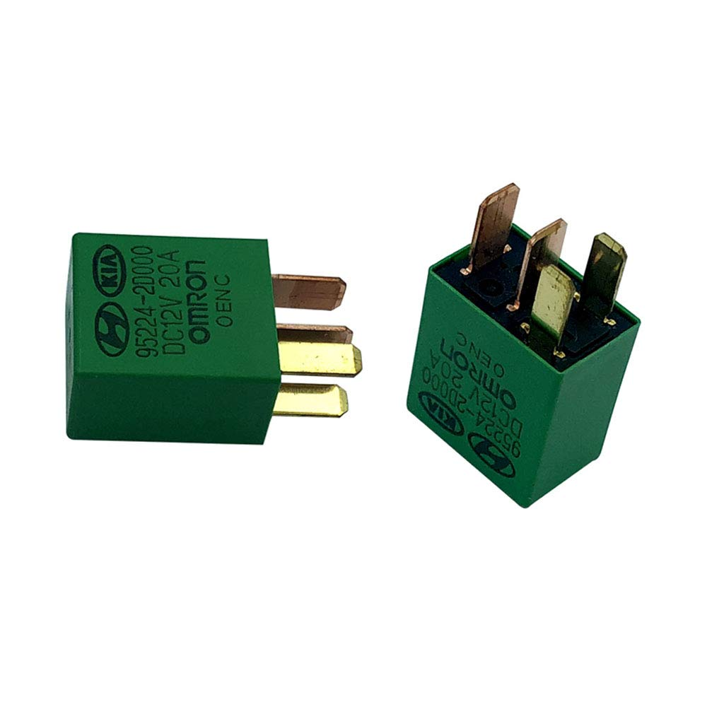 95224-2D000 Power Relay 2 Pack DC12V 20A 4 Pins Relay for Car