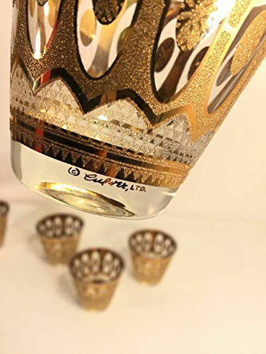 PHOENIX FINDS TREASURES Culver Vintage 22K Gold Old Fashioned Low Ball Whiskey Glasses Mid Century ()