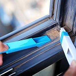 AKUGA Window Frame dust Cleaning Brush Plastic Dust Cleaning Brush for Window Frame, Keyboard Corners Brush with Mini…