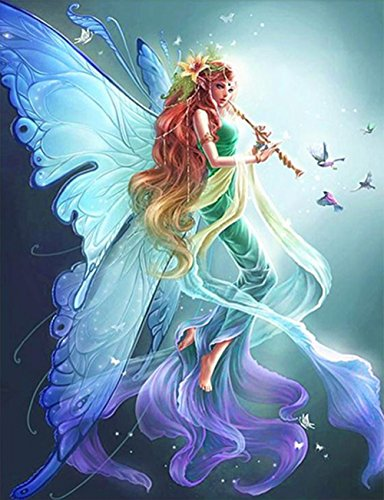 DIY 5D Diamond Painting Kit Clearance, Libermall Fashion Full Drill Nymph Fairies Handmade DIY 5D Paintings Cross Stitch, Arts Craft for Home Decor Bedroom Living Decor Gift for Kids Adults (Handmade Fairies)