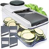 Adjustable Mandoline Slicer - 5 Blades - Vegetable Cutter,...
