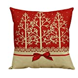 Clearance! Christmas Red Pillow Case, Keepfit Vintage Pillow Cushion Cover for Bed Home Decor