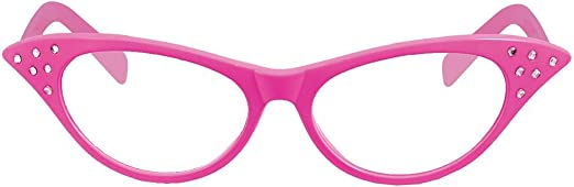 Rimi Hanger Womens Assorted Colors Big Party Glasses Pack Of 6 Unisex Fancy Dress Accessory One Size
