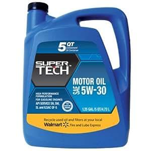 Supertech 5w30 Motor Oil 5 Quart Automotive