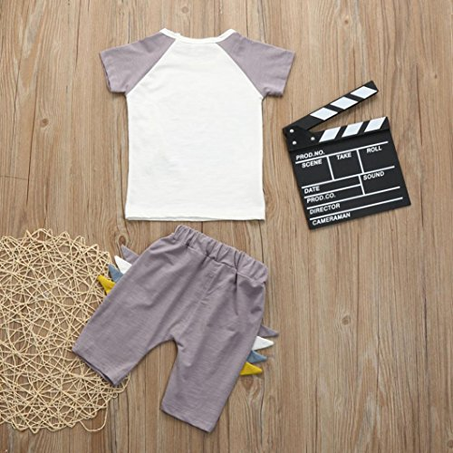 Shorts Casual Clothes Set Kehen Infant Baby Toddler Boy 2pc Summer Outfits Dinosaurs Cartoon Printed T-Shirt Tops