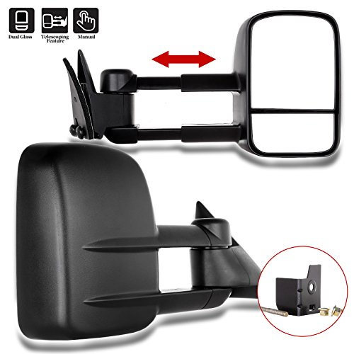 ECCPP Towing Mirrors for 88-98 Chevy GMC C/K1500 88-00 C/K2500 3500 92-99 Suburban C/K1500 2500 Tahoe Yukon Truck 2000 Chevy Tahoe GMC Yukon V8 5.7L Manual Telescoping Side View Door Set Pair Mirrors