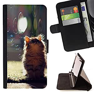 /Skull Market/ - CUTE KITTEN & BUBBLES For HTC One M9 - Caja de la carpeta del tir???¡¯???€????€???????????