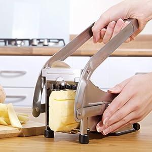 Impeccable Culinary Objects (ICO) Taglierina per Patatine Fritte con Due Lame in Acciaio Inossidabile E Base di… 8