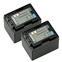 DSTE® 2x BP-727 Fully Decoded Li-ion Battery for Canon CG-700 VIXIA HF R32 HF R40 R42 R50 R52 R300 R400 R500 R600 M50 M52 M500 R30 R62 R66 SLR Cameras as BP-727F BP-718