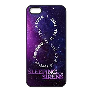 Snap-on TPU Rubber Coated Case Compatible with iPhone 5 / 6 plus 5.5 Covers [SWS Sleeping with Sirens]