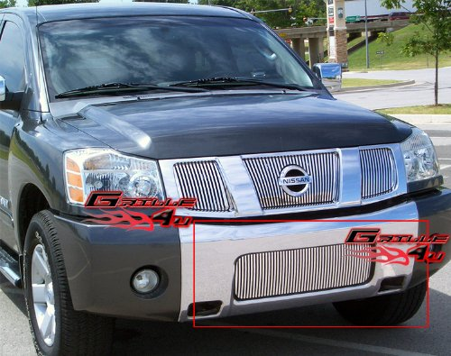 APS 2004-2015 Nissan Titan/2004-2007 Armada Bumper Vertical Perimeter Grille #S18-U31459N (Vertical Bumper Grille)