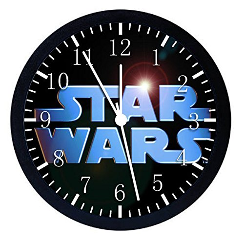 Star Wars Black Frame Wall Clock 10'' Will Be Nice Gift and Home Office Wall Decor W37