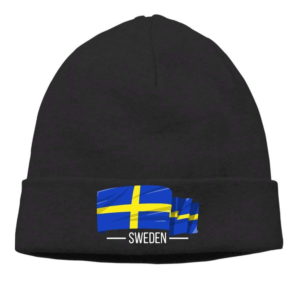 I Love Sweden Swedish Flag Men & Women Knit Hat Knit Warm Fleece Lined Skull Cap