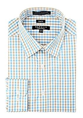 MARQUIS Men's Tattersall Slim Fit Shirt