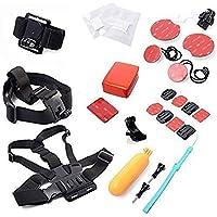 YFY 22-In-1 Basic Outdoor Sports Accessories Kit for GoPro Hero Cameras,SJ Cam, Xiaomi Yi,Sport Acion Camera