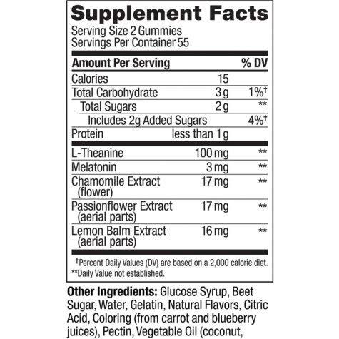 Amazon.com: OLLY Restful Sleep Gummy Supplement with Melatonin & L-Theanine Chamomile, Blackberry Zen, 110 Gummies (55 Day Supply) Supports a Healthy Sleep ...