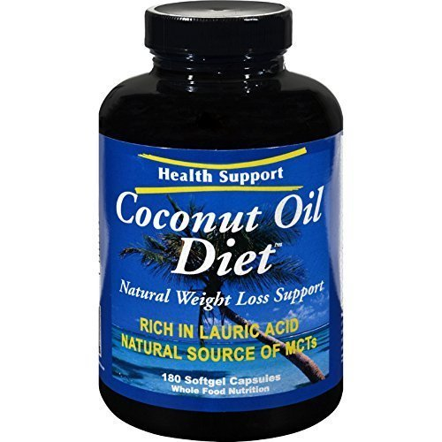 HEALTH SUPPORT COCONUT OIL DIET, 180 SGEL by Health Support by Health Support