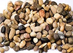 This river rocks comes in a variety of natural colors and patterns combination of the popular natural color and shades such as brown, white, black, red, grey, are natural lightly polished for smooth effect, and the earthy tones match most any...